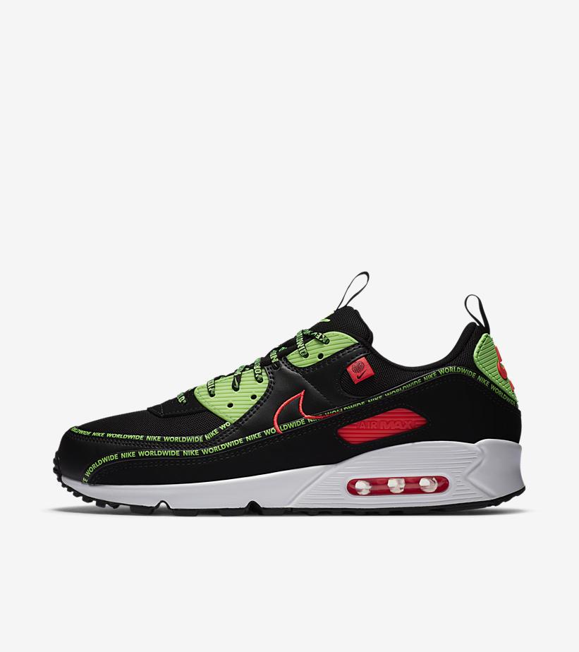 Nike Air Max 90 Worldwide 'Black/Flash Crimson'