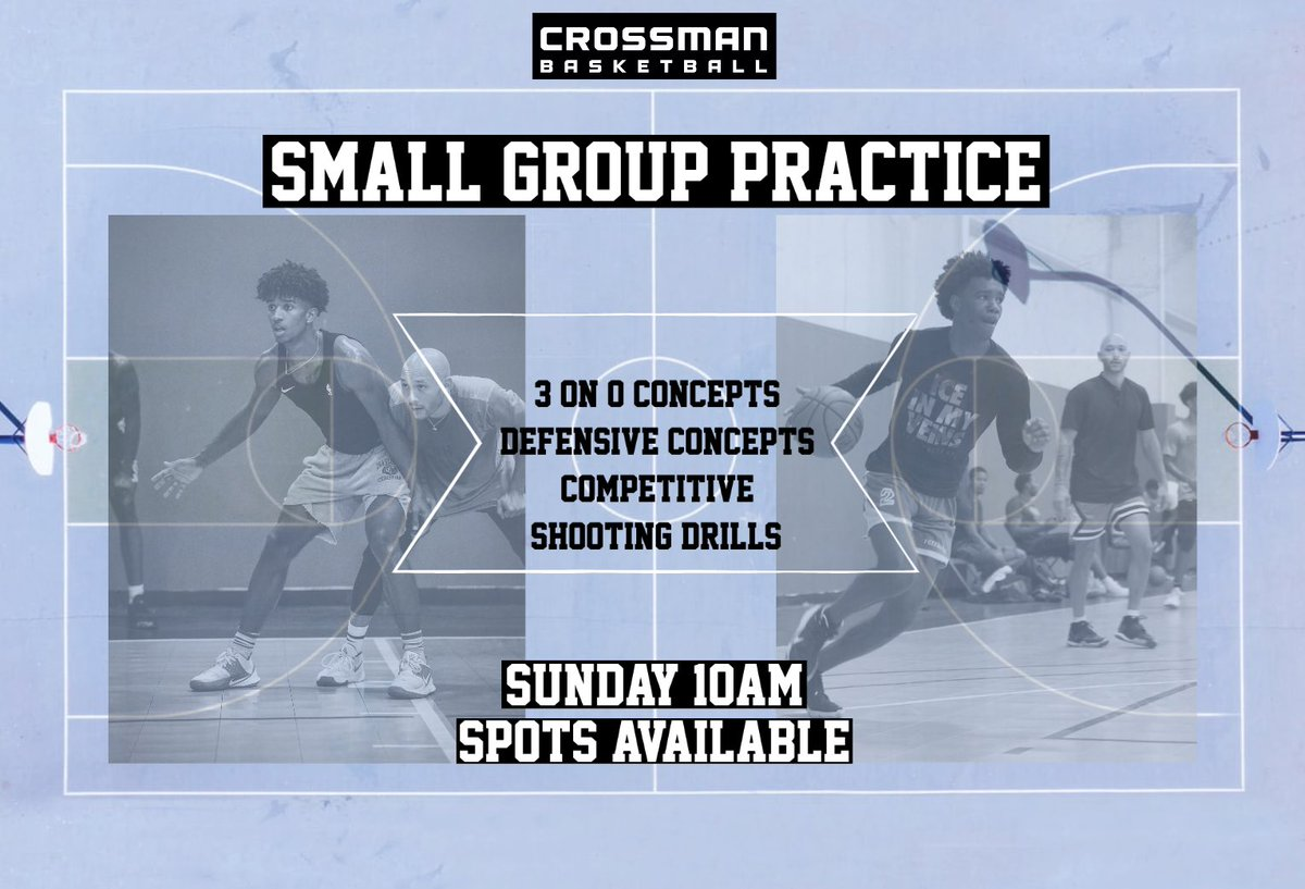 Looking to fill two spots - contact with interest.  • #CrossmanBasketball #HeavyOnTheFundamentals #HabitStacking #Charlotte #ClassInSession https://t.co/yFJD9mASee