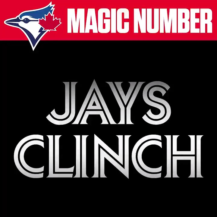 The #BlueJays are back into the postseason for the first time since 2016! #CLINCHED