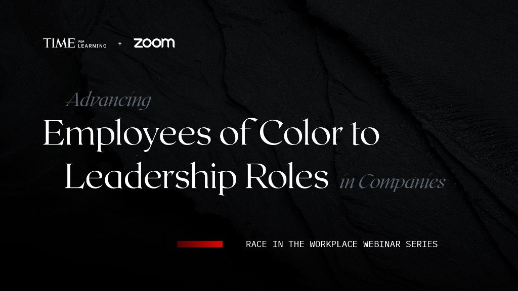 Learn equitable approaches to investing in the career ascension of employees of color in this webinar led by Shaun Harper, Racial Equity Expert, and Damien Hooper-Campbell, Zoom's Chief Diversity Officer, in partnership with TIME for Learning and @zoom_us: https://t.co/pdEvkzLk2Z https://t.co/eCFbAwmzd3