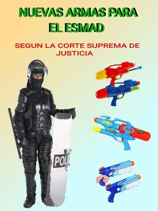 Porque no salen los hdppppps de la corte a defender la patria con el nuevo armamento del ESMAD https://t.co/mbic314ThQ