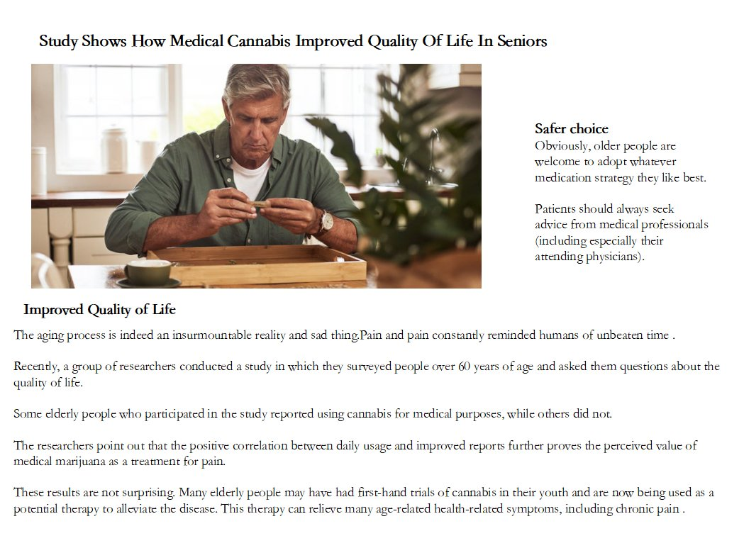 How Medical Cannabis Improved Quality Of Life ? #medical #cannabis #qualitylife #cannabislife https://t.co/1QV3A8HZz3