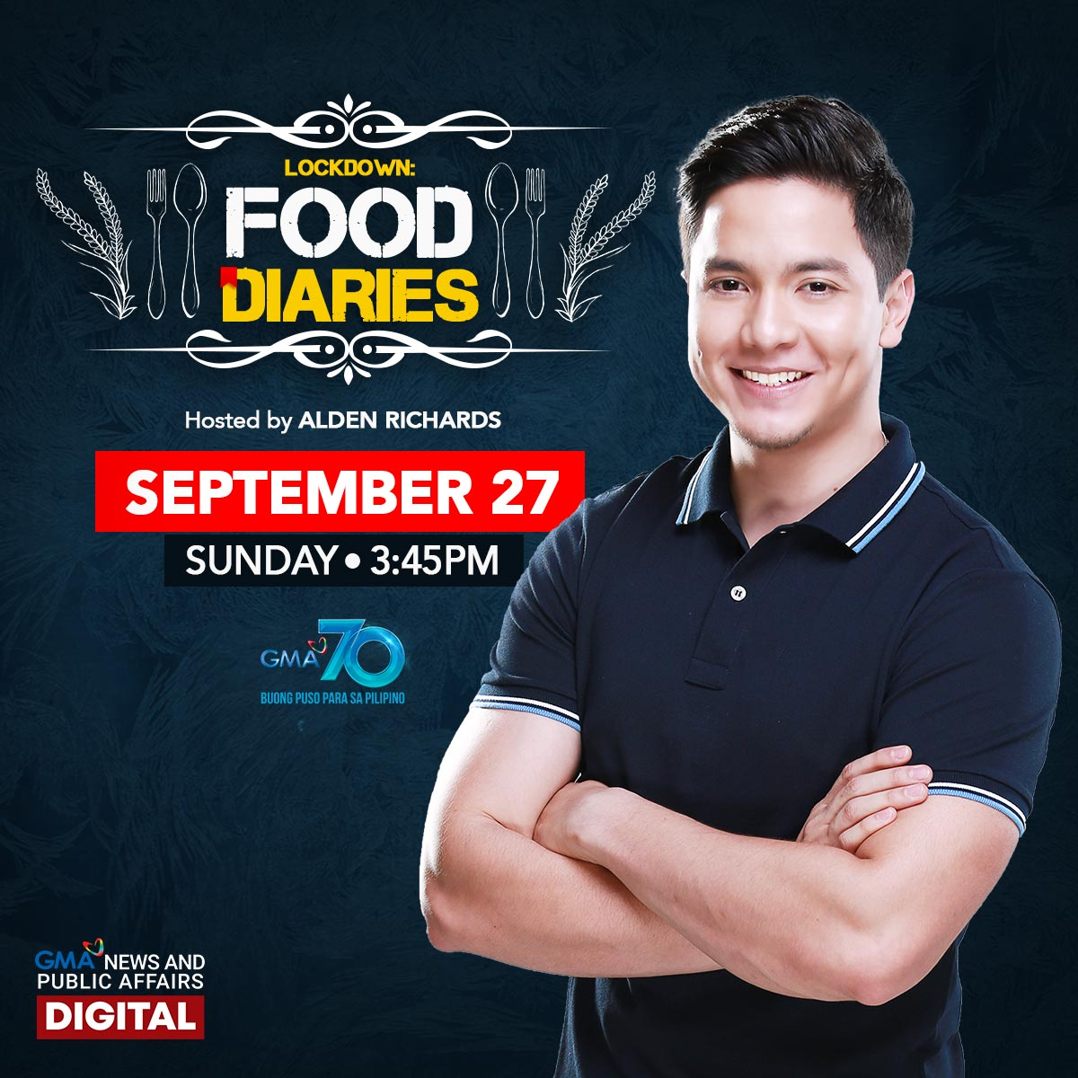Don't miss #LockdownFoodDiaries, hosted by Asia's Multimedia Star @aldenrichards02, this Sunday, 3:45 PM on @gmanetwork! https://t.co/SJTt1AsTgm https://t.co/5cYSufZVTM