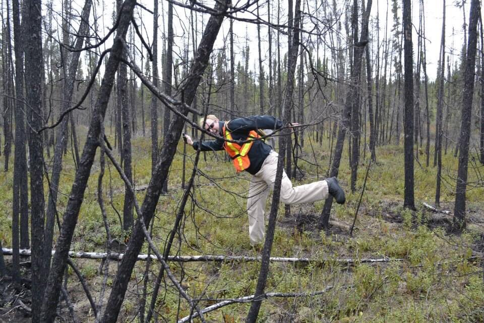 This was 8 years ago already! Fun times at the huge Red Lake fire in NW Ontario. Those field pants returned the same colour as my sweater. #TBT #FieldWork @YorkGeography @yorkueuc https://t.co/8CzjDJfl5l