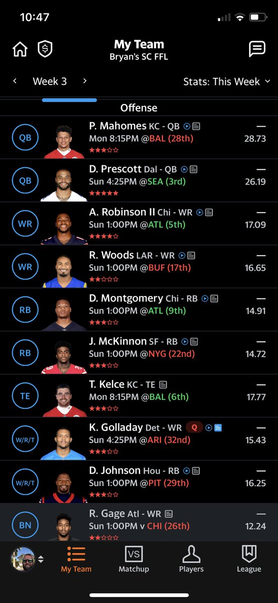 @LateRoundQB @andyholloway @MikeTagliereNFL @FFHitman @KyleYNFL @jasonffl  I just traded away Jonathan Taylor and Golden Tate for Allen Robinson and Kenny Golladay 😬 please tell me I didn't make a mistake........ https://t.co/FBPFXXu6qT