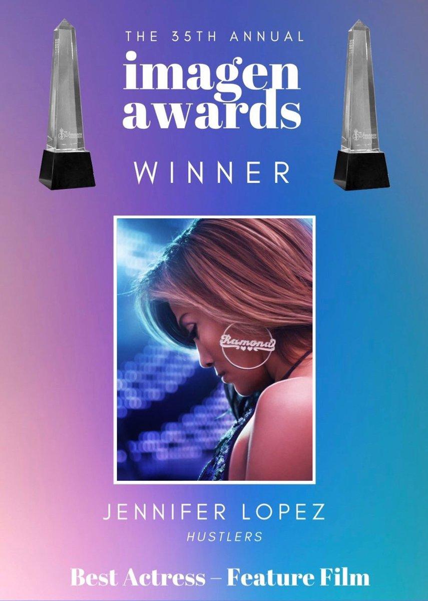Muchas gracias por este premio! Me siento muy honrada! / Thank you so much for this award! I am honored!   #ImagenAwards @HustlersMovie #Ramona https://t.co/Jj7TBlLNDB