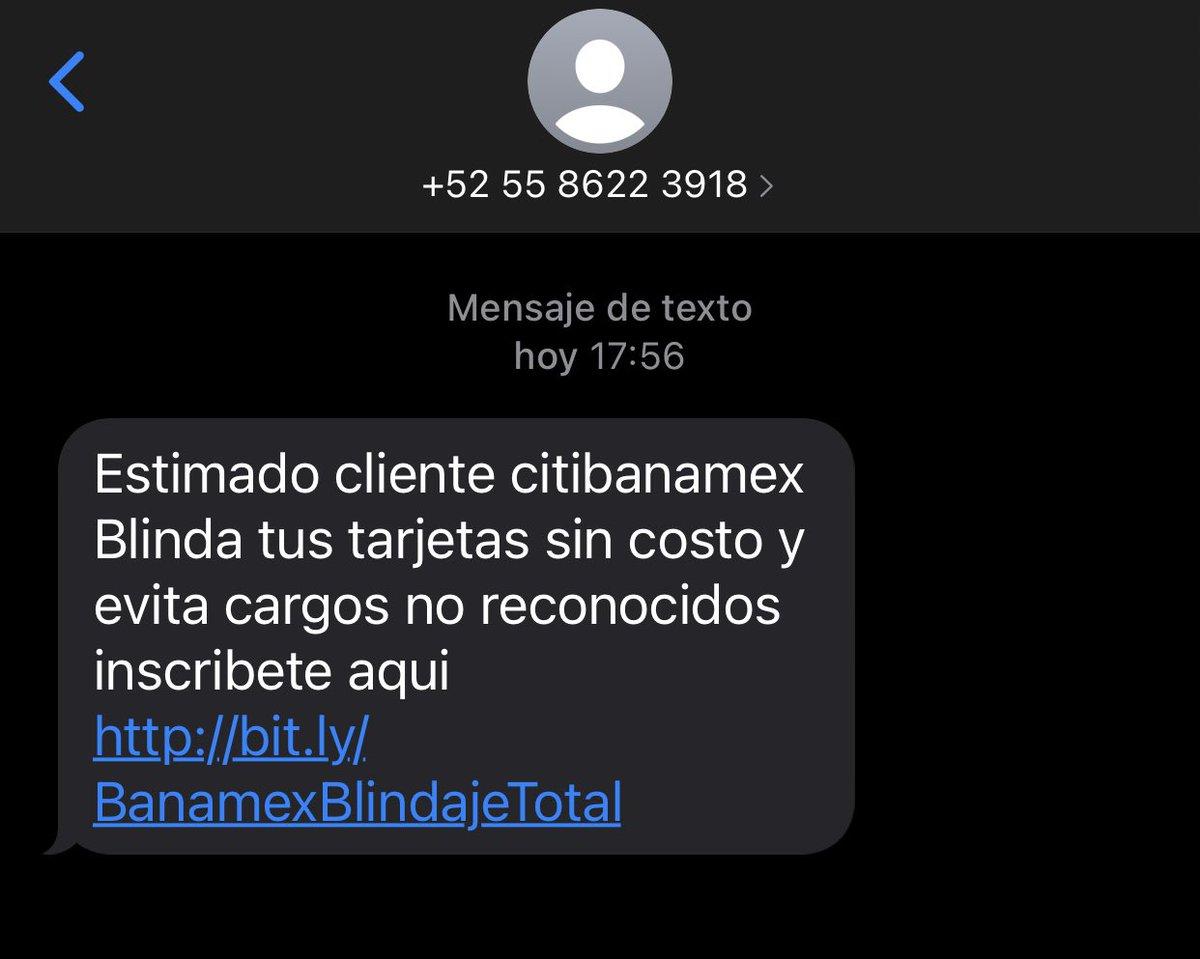 @Citibanamex @ContactoCitibmx me llegó este mensaje de texto... ¿es de ustedes?