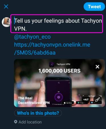 Tweet by @tachyon_eco