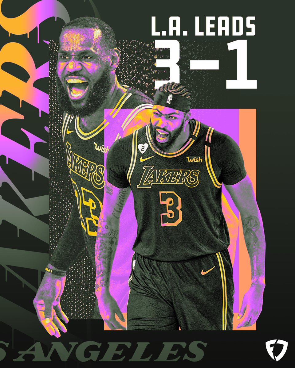 The @Lakers are 1 game away from the NBA finals 🏆   AD: 50.5 #FDPoints  LBJ: 48.8 #FDPoints https://t.co/WJZTzPG94r