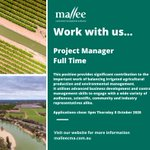 PROJECT MANAGER - New role 🌱 Play a pivotal role in planning, developing and implementing strategic projects to contribute to the region's economic and productive outcomes.  Applications close: 8 October 2020.  More info: https://t.co/l2nX0U6qwg #employment #agriculture #Mallee