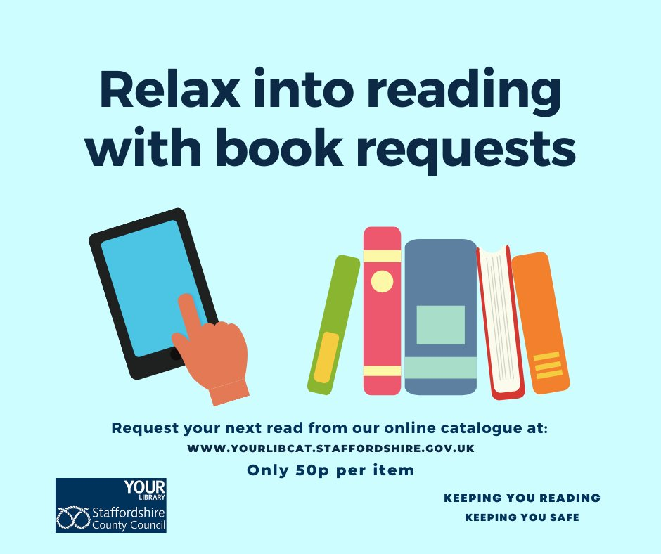 It's been great to welcome you back during our phased re-opening of libraries in #Staffordshire. On the 1st October we're re-introducing requests. See detailed service updates here: https://t.co/3E5MEf71pO https://t.co/zNKUoGoycB