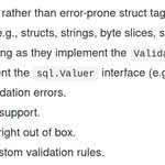 Image for the Tweet beginning: An idiomatic Go validation package.