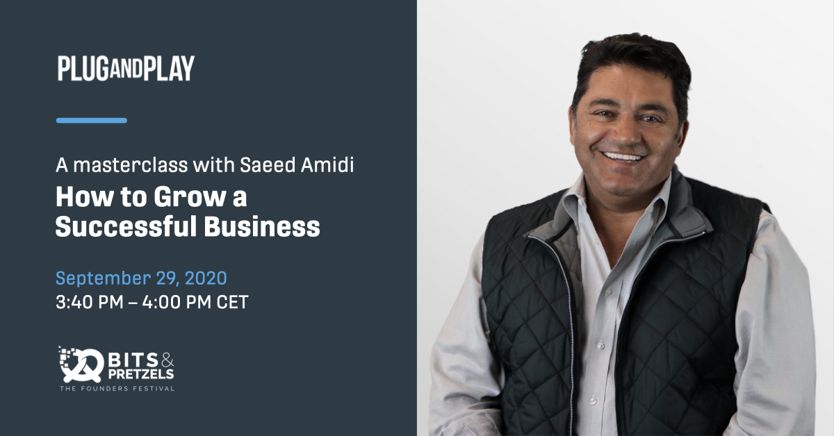 On Sept 29th, you can attend a unique Masterclass: @SaeedAmidi will share expert advice on how to grow a successful business.   This masterclass will be part of @bitsandpretzels, Europe's biggest startup festival, and you can still get tickets: https://t.co/voCA0IooR0 https://t.co/vVS0lqHaOg