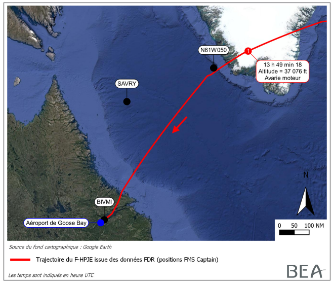 📄 Investigation report on the Accident to the @airbus #A380 registered F-HPJE and operated by @airfrance  on 30/09/2017 en route over Greenland / Uncontained failure of engine No 4 en route, diversion. https://t.co/DrEYLSj8S5 https://t.co/xGr9QGEAxT