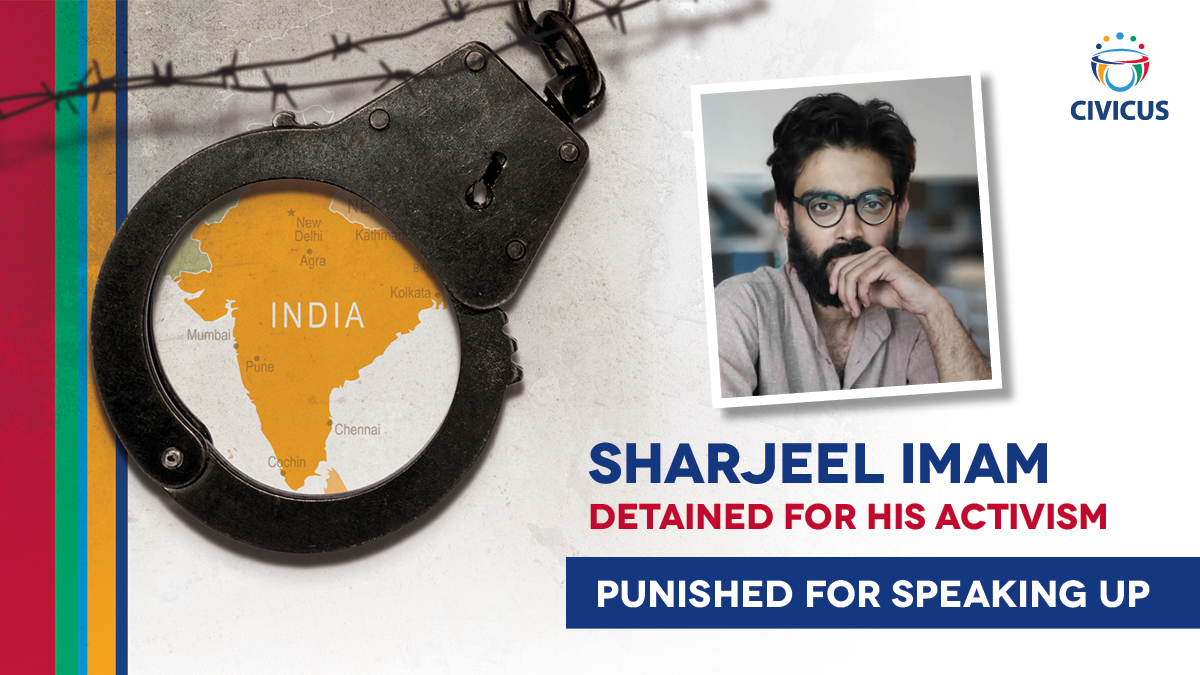 🇮🇳 #India: Student activist Sharjeel Imam has been detained since January for his protests against the Citizenship Amendment Act (#CAA) and was infected by #COVID19 in detention. He is one of many being persecuted for their activism.  New report: https://t.co/Grw1WAcjI1 https://t.co/SEh1RSOLen