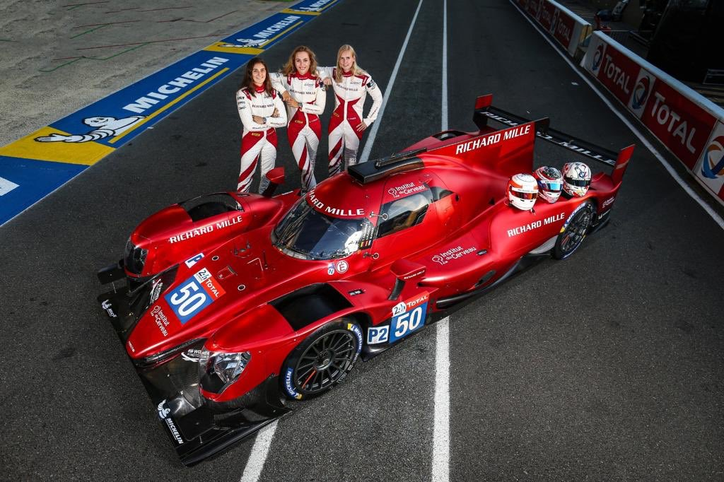 👑 What a race for the all-female line-up in the Richard Mille Racing Team car! @TataCalde, @SophiaFloersch and @beitskevisser finished 13th overall and ninth in the LMP2 class 👩  #LeMans24 #WEC @fiawim #Motorsport #Racing https://t.co/mkEWOumgYF