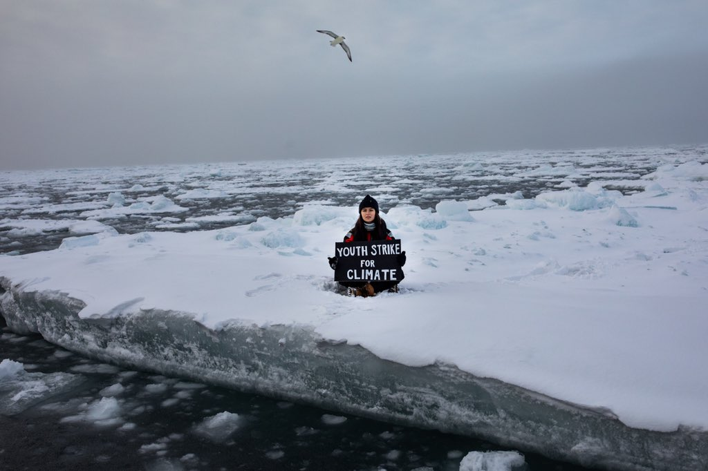 Time is running out. The Arctic is melting, and could be gone by the time I'm in my 30s, and we need our leaders to make a decision now.   I did the most northerly climate strike ever in the Arctic to convey my desperation and the urgency of the issue. https://t.co/qyEiz0T7iw