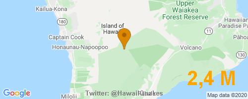 USGS reports: M2,4 Earthquake 27 km E of Honaunau-Napoopoo, Hawaii, Depth -0,2 Km @ 2020-09-24 22:55:20 HST. More info: https://t.co/qrTGJMc9lo  #EarthQuake #Hawaii #Quake https://t.co/ag3xiTSh84