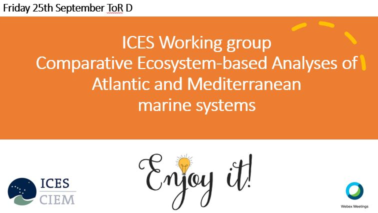 #lastday of #WGCOMEDA @ICES_ASC new ToRD ready for a new challenge! integrate #humandimension to #IEA across #Atlantic and #Mediterranean systems coupling #social #economic and #ecological aspects speaker @sdejuan @IMEDEA_UIB_CSIC #bayesianbeliefnetwork #expertbasedknowledge https://t.co/7tQfTYbR53