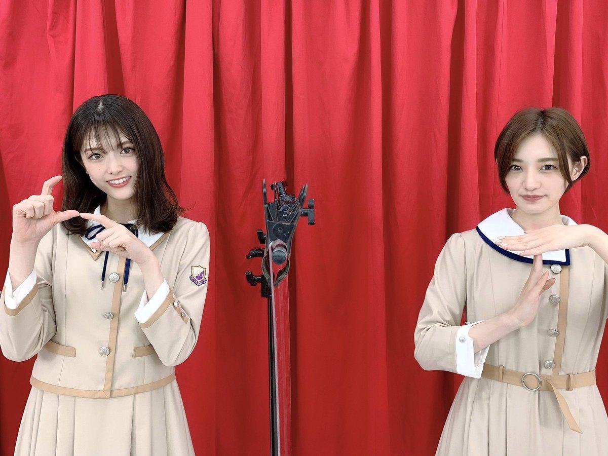 このあと18:00から、ニコニコ生放送「生のアイドルが好き(#生ドル)」に中田花奈🀄️と松村沙友理🍎が出演します✨ぜひご覧ください☺️