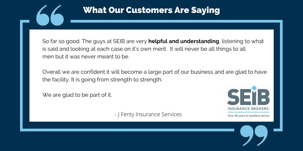 We appreciate our customers' feedback!  Here's what some of our customers have to say about our services:  #SEIBHere2Help