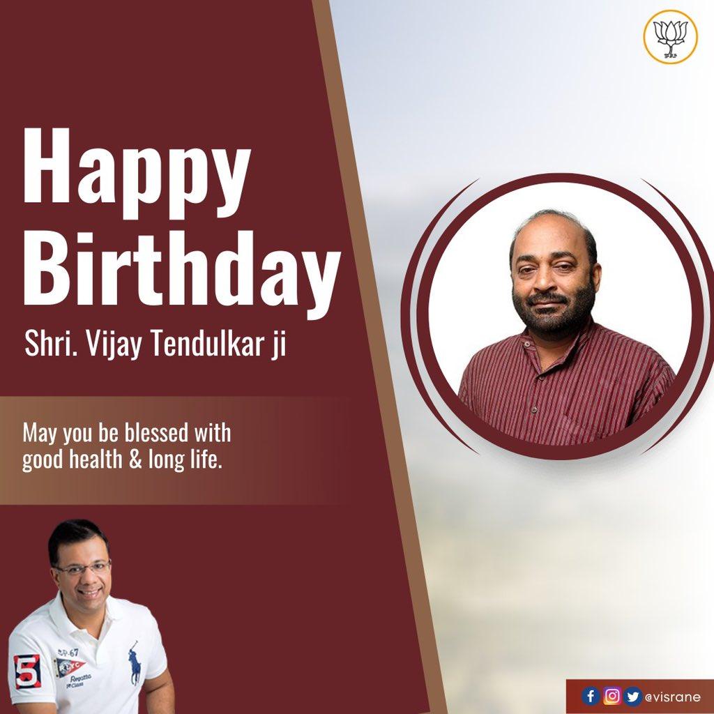 Warm birthday greetings to Rajya Sabha MP and senior BJP Goa leader Shri @TendulkarBJP Ji.  May you be blessed with good health and long life. https://t.co/eO4IF6lu5o