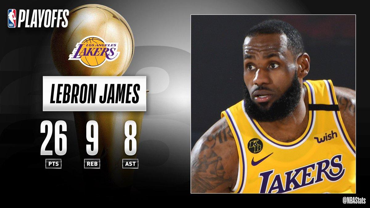 LeBron's near triple-double propels the @Lakers to a 3-1 WCF series lead! #SAPStatLineOfTheNight https://t.co/YspxOiKcsj