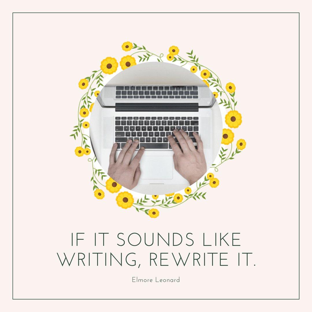 RT @BadRedheadMedia: If it sounds like writing, rewrite it.  ~ Elmore Leonard  #WritingCommunity #ThursdayMotivation #AmWriting https://t.co/MokKcl0TKQ
