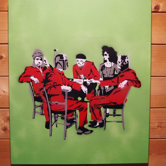 レコードジャケットシリーズです #starwars #スターウォーズ #ymo #stencilart #bobafett #bossk #dengar #solidstatesurvivor https://t.co/hdXO5KpdWk