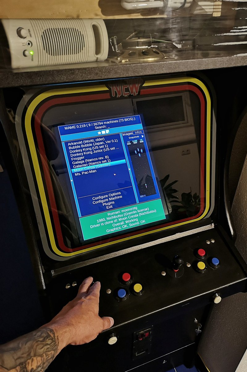 Hmm seems I've to finish my #Mame #Arcade Cabinet some day 🤔👾 ... but don't hurry! 🤭  #RETROGAMING #raspberrypi #jamma #DonkeyKong #mooncresta #frogger #PacMan https://t.co/ICWSe0253O
