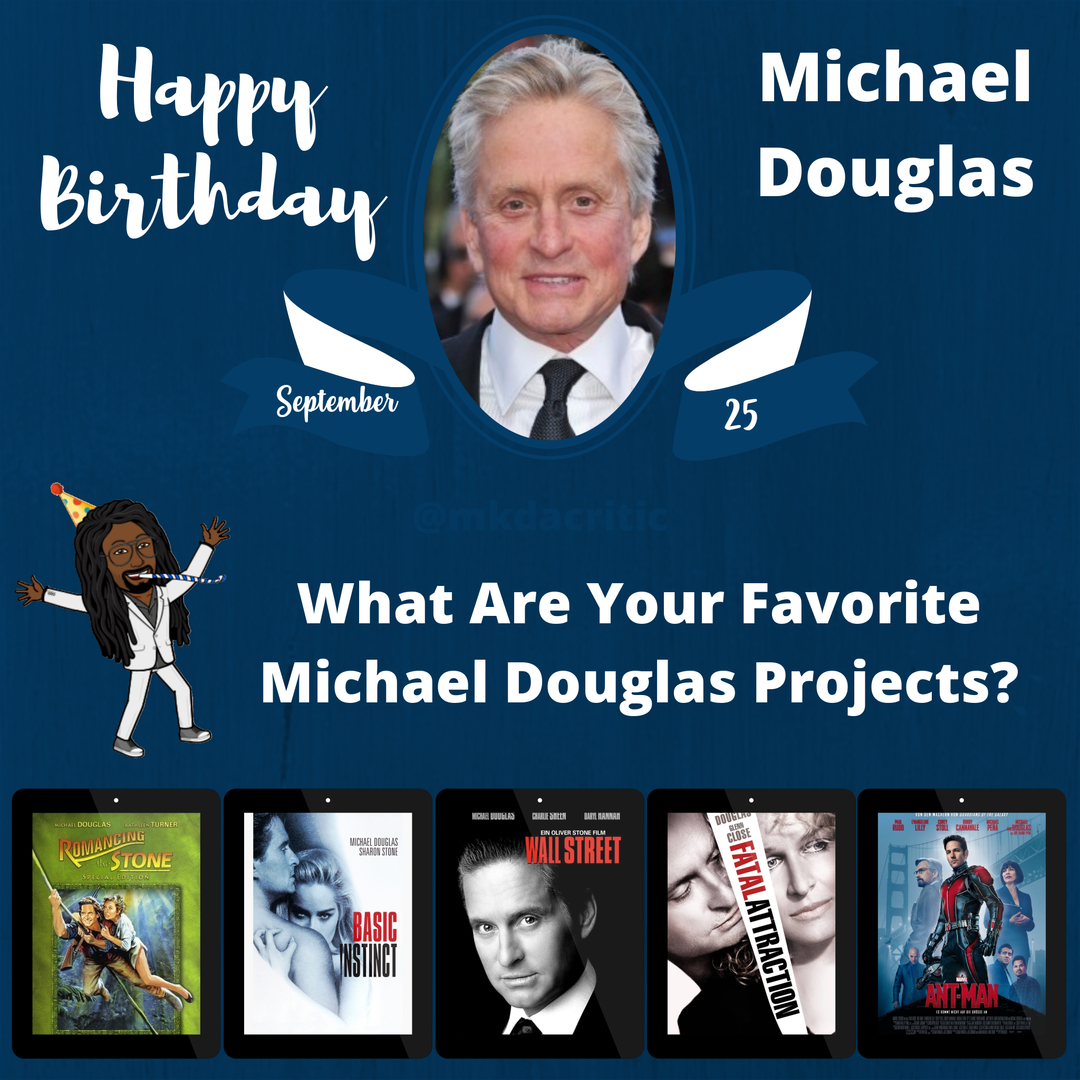 #HBD #MichaelDouglas #actor #producer #BasicInstinct #FatalAttraction #RomancingtheStone #AntMan #WallStreet #Favorite #Movies #question #film #drama #video #horror #director #netflix #like #comedy #follow #film #hollywood #camera #HappyBirthday #mkdacritic https://t.co/T5pQQRTknA