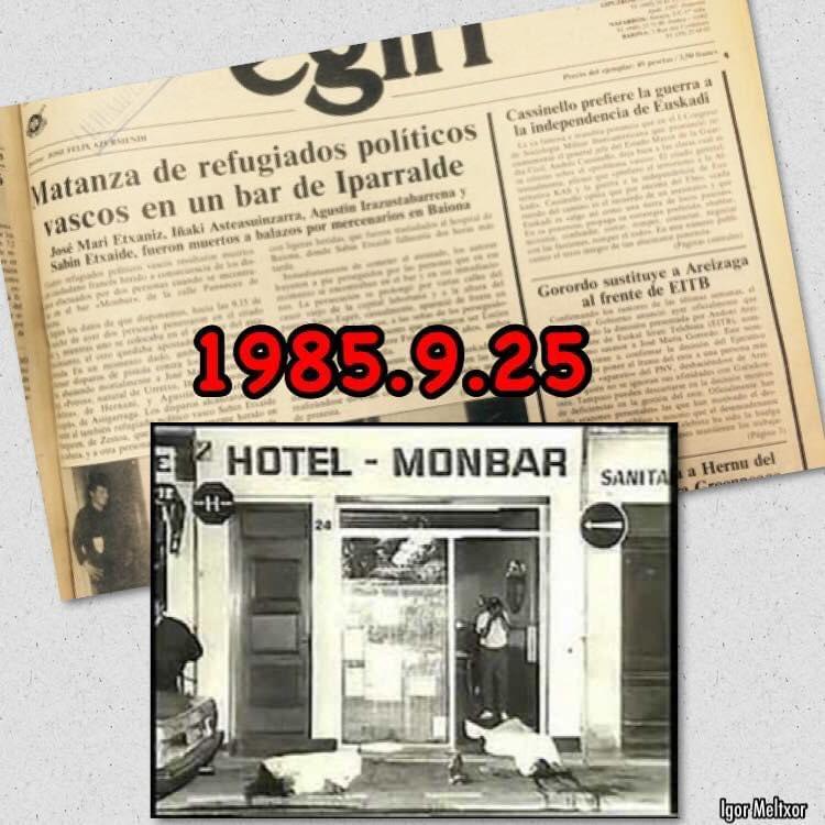 """4 charcos rojos, 4 claveles rojos,  quedan en el recuerdo,  y un sudor frío...  #kortatu @muguruzafm  #Monbar #35urte  """"Ni existen pruebas ni existirán"""" (GonzáleX) #Relato https://t.co/lmHYXLtpNE"""