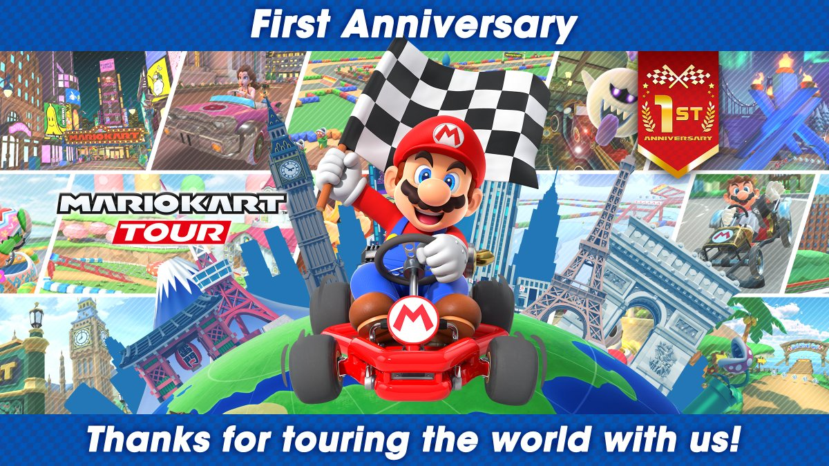 Mario Kart Tour On Twitter Can You Believe It S Been One Year Since Mariokarttour Was Released Thank You For Playing To Commemorate The Anniversary The Next Tour Will Be Called The 1st