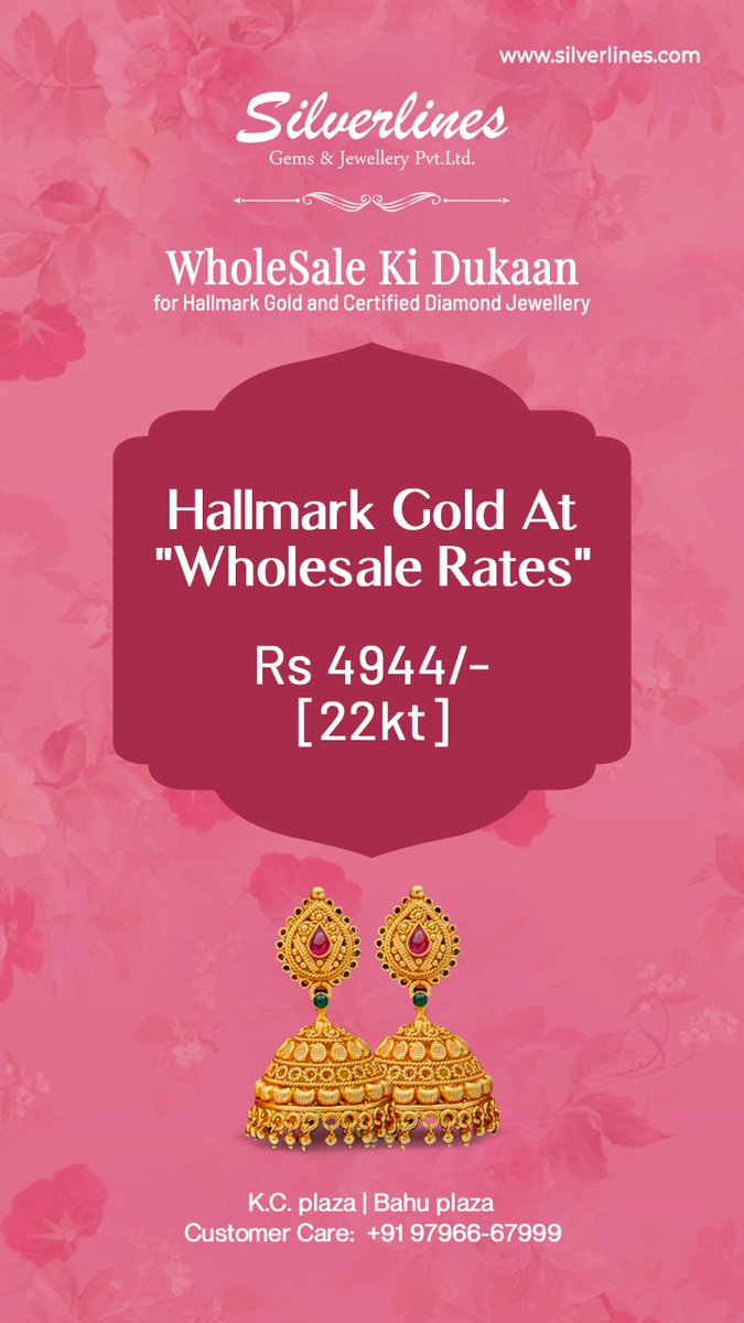 Get the best Gold  jewelery at OUR rates!#Silverlines #getyourgold #ourprice #goldrate #glamup #shimmer  #jewellery #jewelry #fashion #earrings #handmade #gold #necklace #accessories #silver #love #ring #style #handmadejewelry #jewellerydesign #jewels https://t.co/cHlLaXDmmm
