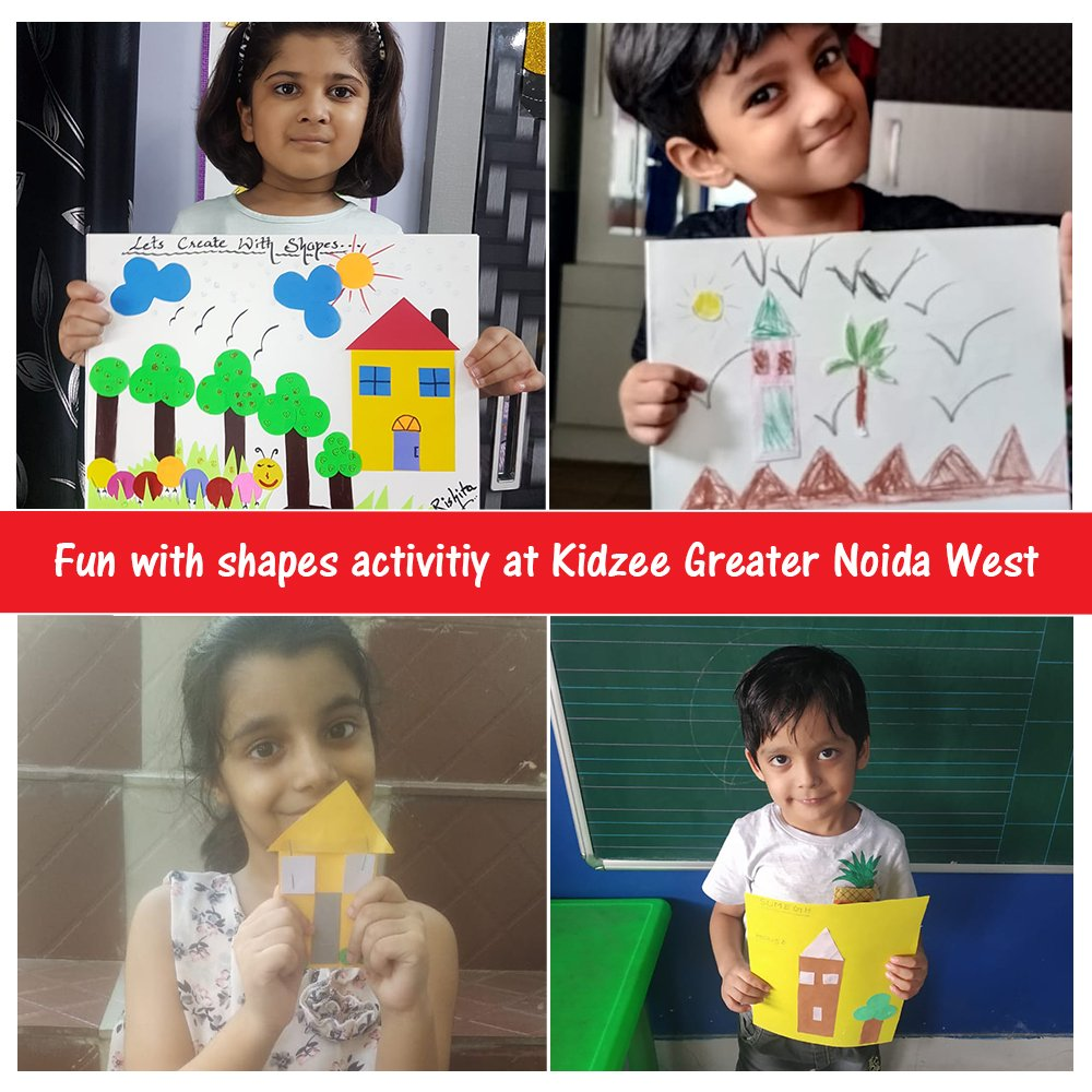 Students of Kidzee Greater Noida West had a great time learning about different shapes! An activity was conducted which required the little ones to indulge in drawings and paper art using shapes.  #Kidzee #KidzeeStudents #ShapeActivity #Shapes #Activity #Learning #FunLearning https://t.co/8fLyM3e0js