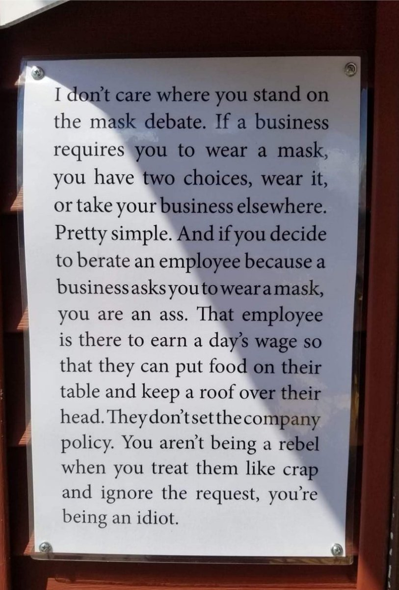 Since coming back to work from the 15th June, there is a new breed of customer. I've been verbally abused about the most petty things. It's not easy doing a customer facing job in these times The #bekind seems to be a distant memory 😔 I thought I would share this. Its spot on! https://t.co/YDfoSTbrRM