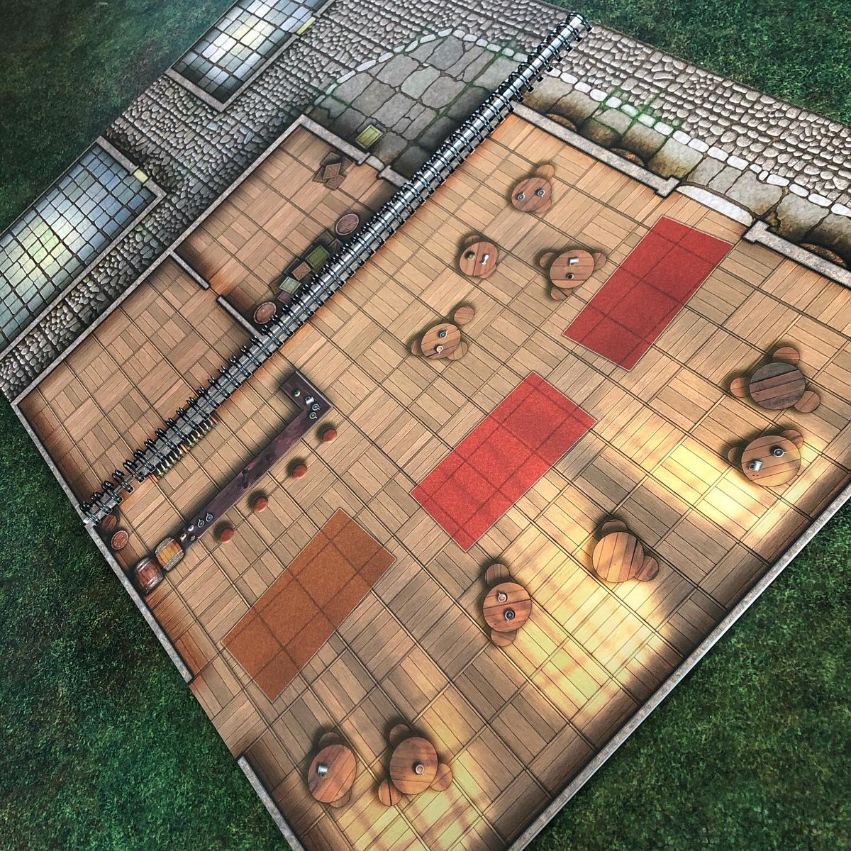 You can fold our Giant maps in half! Great to surprise your party or for smaller encounters & tables! The Giant Book of Battle Mats Volume Two is available to preorder from your FLGS or favourite online retailer  or https://t.co/7VmIuPXADY #dnd #dungeonsanddragons #lokebattlemats https://t.co/xn6fntRJJm