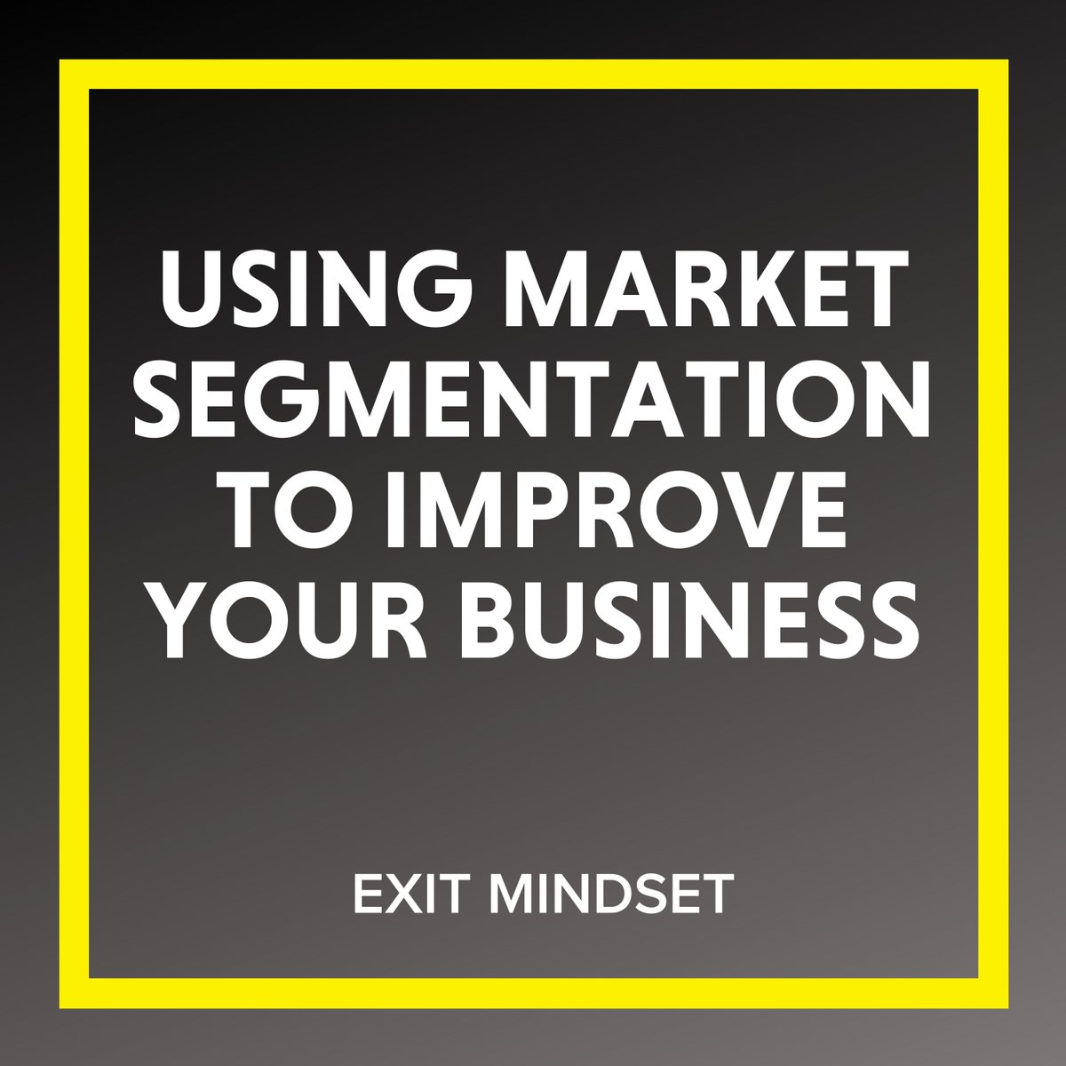 How can you use #MarketSegmentation to improve your business and better reach your target consumer?  Listen to the new #podcast episode, #availablenow !  #ExitMindset #podcast #applepodcast #listennow #growyourbusiness #sellyourbusiness #businessowner #company #product #consumer https://t.co/78Jni7wdUQ