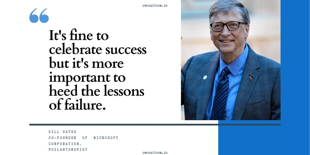 As @BillGates says we learn from our failures more than our success. One cannot succeed without the risk of failure. You must go out and take these risk. . . #recruitmentsoftware #recruitcrm #workfromhome #recruiters #QOTD  #quoteoftheday #inspirationalquotes #recruitmentagency https://t.co/ydp9G8vru4