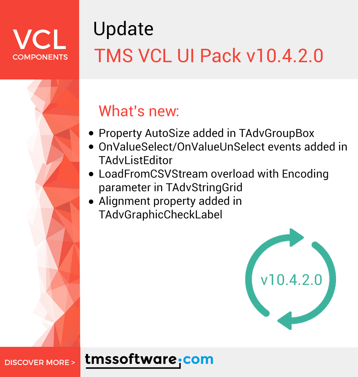 New #Update available for TMS VCL UI Pack! Discover more: https://t.co/RsZFFdjZJW  #delphi #Developer https://t.co/yF0ihCIAa3