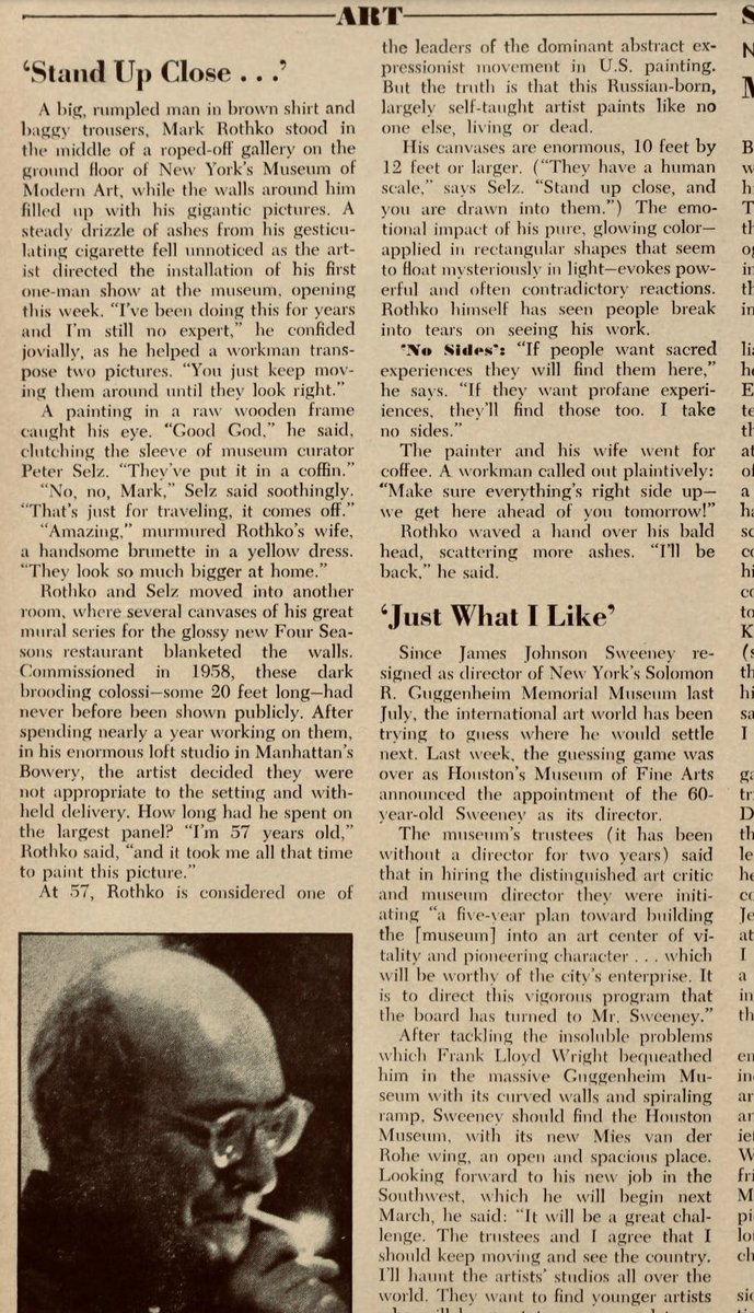 Happy birthday to Mark Rothko, master of the sacred and the profane.
