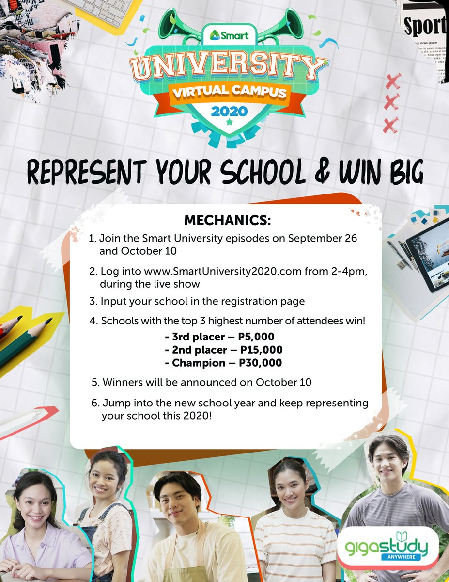 Mapúans, exciting prizes, cool performances, and fun activities await you at #SMARTUNIVERSITY! Go ahead and represent your university so you can WIN BIG. Join the fun and #LearnSmart!  Learn more at https://t.co/qF1iHUNmaV. https://t.co/Huv72FMxqz