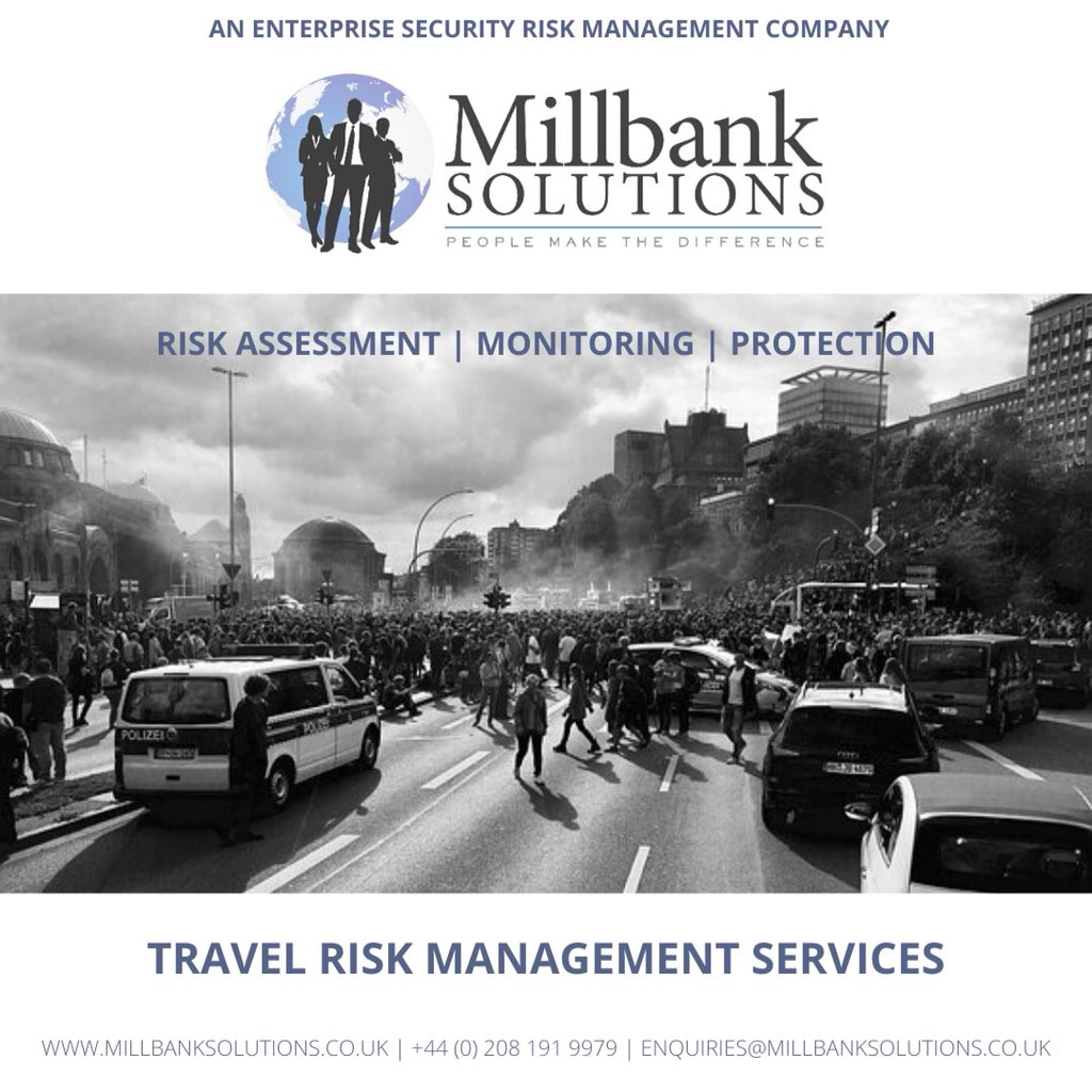 When your staff are #travelling #overseas on #business, you need to understand the threats they face in-country and have a plan to mitigate the associated risks.   From simple journey plans, to full #travel #riskmanagement and monitoring packages, we can offer a peace of mind. https://t.co/q4YDvXT8h5