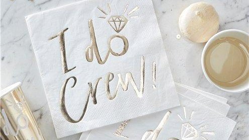 Celebrate your engagement with your nearest and dearest using these gorgeous napkins from our I Do Crew range! Shop https://t.co/mfWYaJhuAs for your party needs! #proptastick #engagementparty #engaged #party #engagementideas #engagementpartyinspo #celebratelife #partytime #love https://t.co/kAFV1xkMra