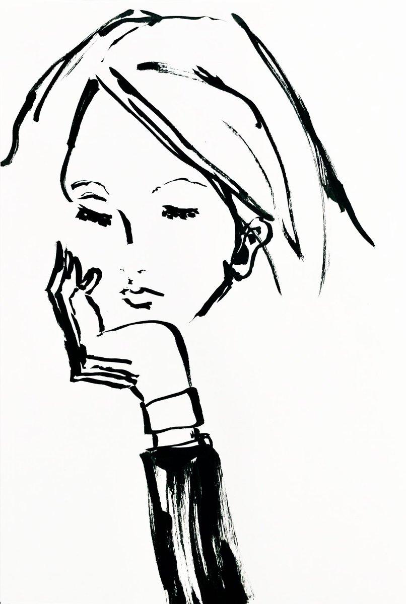 泣きたい日もある。  #ファッションイラスト #ペン画 #線画 #ドローイング #アート #イラスト #絵 #絵描き #絵画 #作品 #芸術 #筆ペン https://t.co/chjaczJ73j