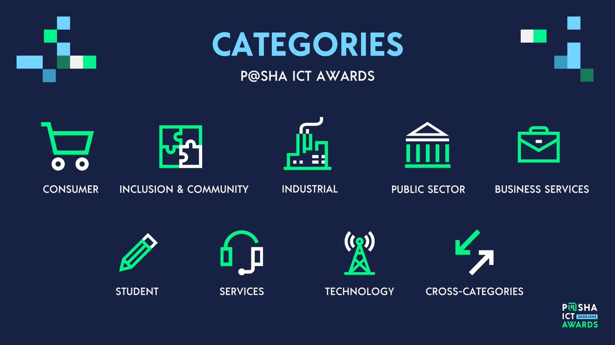We are now accepting applications for P@SHA ICT Awards 2020! Visit the Categories page https://t.co/ns0pv4ywQX to apply!  #PashaICTAwards #PashaAwards2020  @TechJuicePk   @brecordernews   @HeraldPakistan    @etribune   @Dawn_News https://t.co/cvSVdSv3Uc
