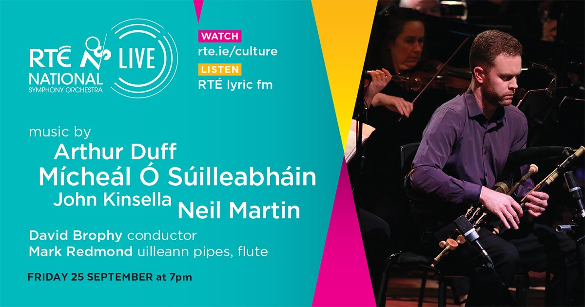 Looking forward to today's @RTE_NSO LIVE concert with @RedmondMr #DavidBrophy in an all Irish programme with arrangements of Irish airs by @nmcello listen @RTElyricfm with @Paullyricfm and watch @RTE_Culture at 7pm #lovelivemusic https://t.co/NpgJawpdth
