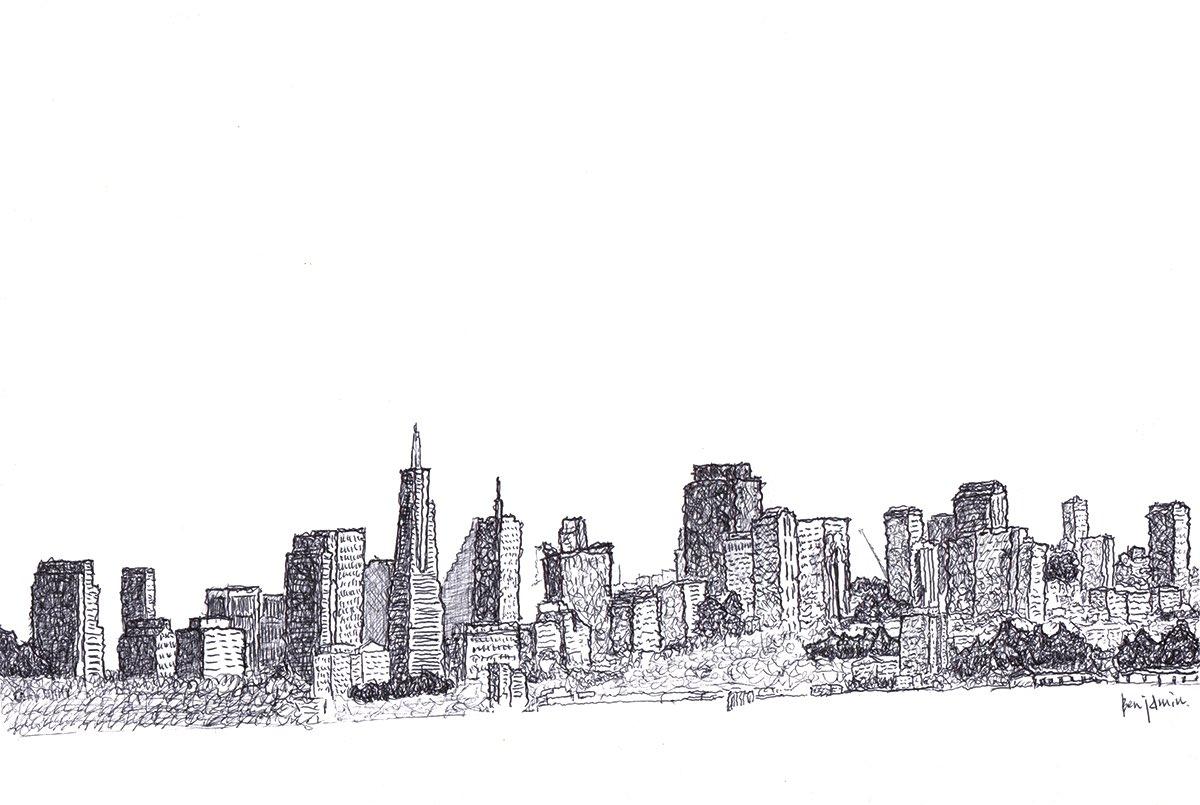 """NY city"" Ballpoint pen on drawing paper  HP https://t.co/YT9LF0YIsB   tumblr https://t.co/B3kx4jRwTo  Instagram https://t.co/dQfXM8DUEp    #drawing #illustration #art #BallpointPen #絵画 #イラスト #ボールペン https://t.co/iM2Z6hSUoV"