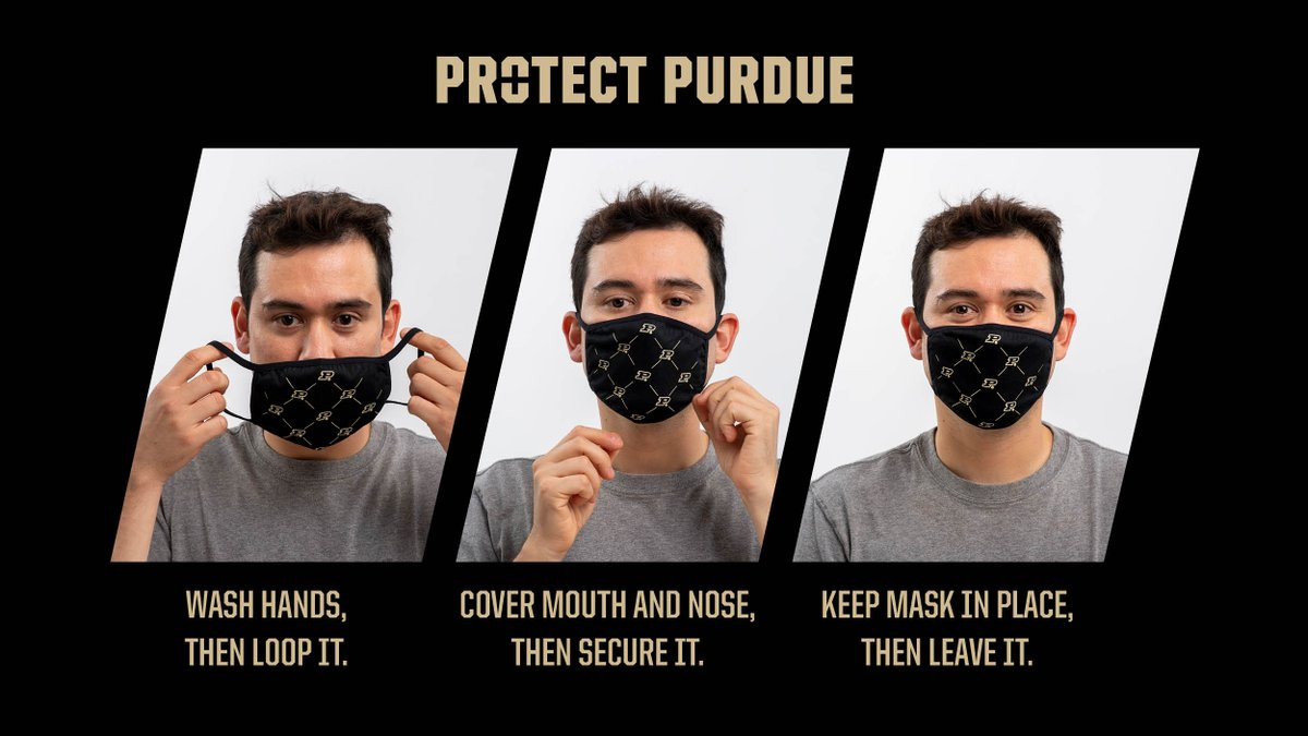How to wear a mask in three steps to help #ProtectPurdue https://t.co/KkYkmAheNV https://t.co/rkYHiFEYnl