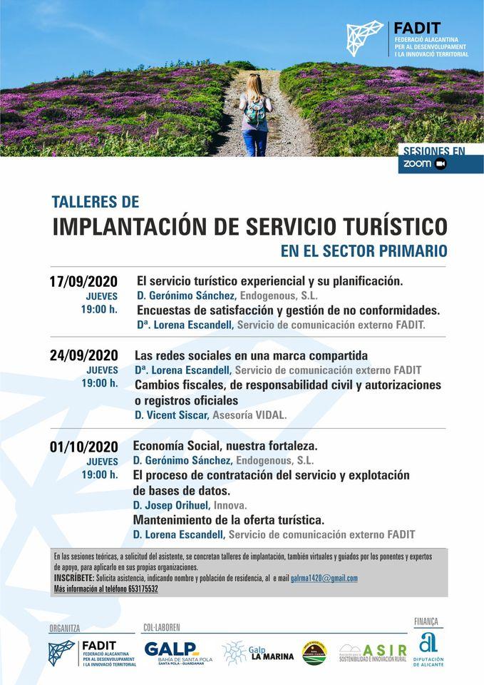 📝 El próximo jueves 1 de octubre más #talleres:  -----------------------------  📝 Dijous que ve 1 d'octubre més #tallers:  #EconomiaSocial #TurismoRural #Fadit #redessociales #Xarxessocials #TurismeRural #ConoceLaEsenciadeAlicante #Esencia https://t.co/cAZTC9EJTb